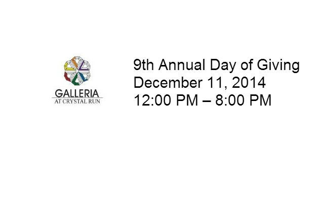 Thursday, December 11, 2014: 9th Annual Day of Giving